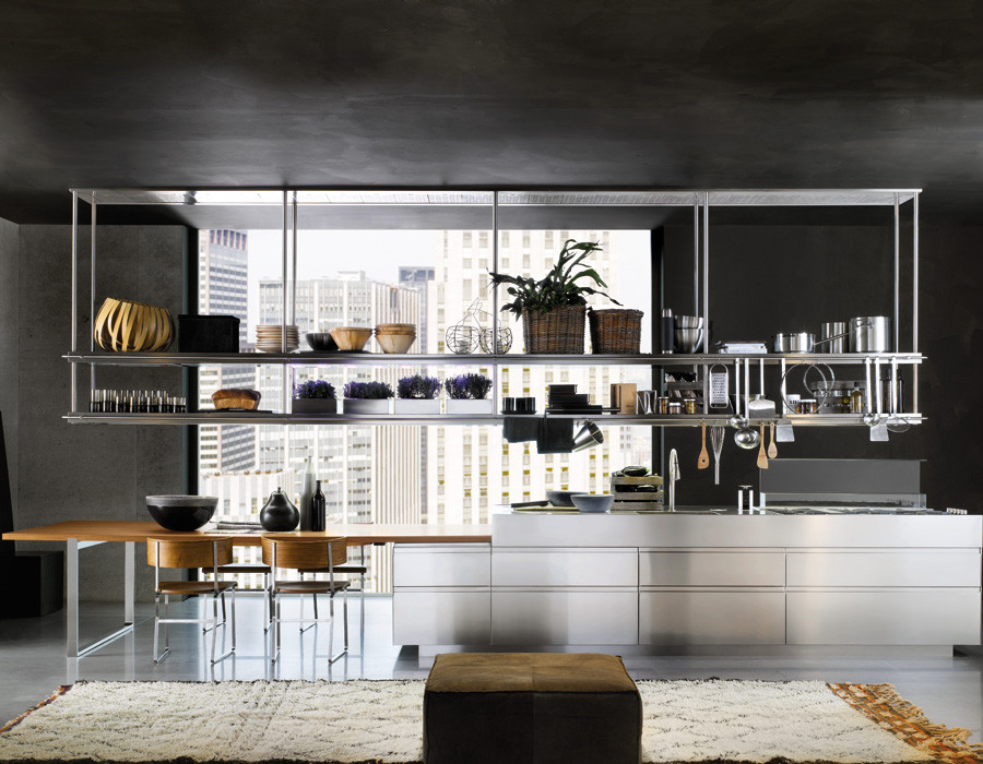 Mensole Sospese Per Bar.Exclusive Elements Arclinea Barcelona Muebles De Cocina Italianos